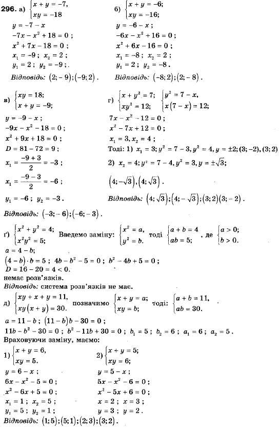 Решебник по алгебре 9 класс мальований литвиненко возняк