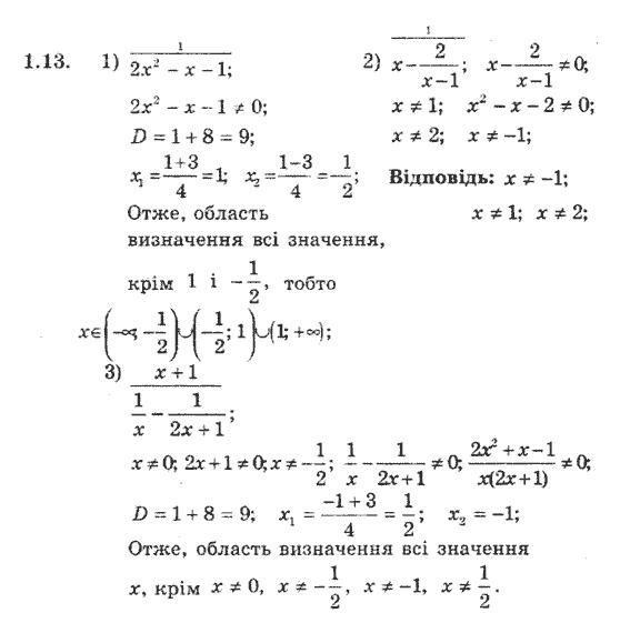 Якір с алгебра полонський поглибленим гдз мерзляк класс 9 вивченням
