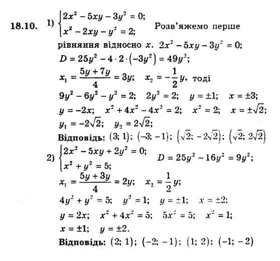 алгебра 10 клас мерзляк гдз з поглибленим вивченням