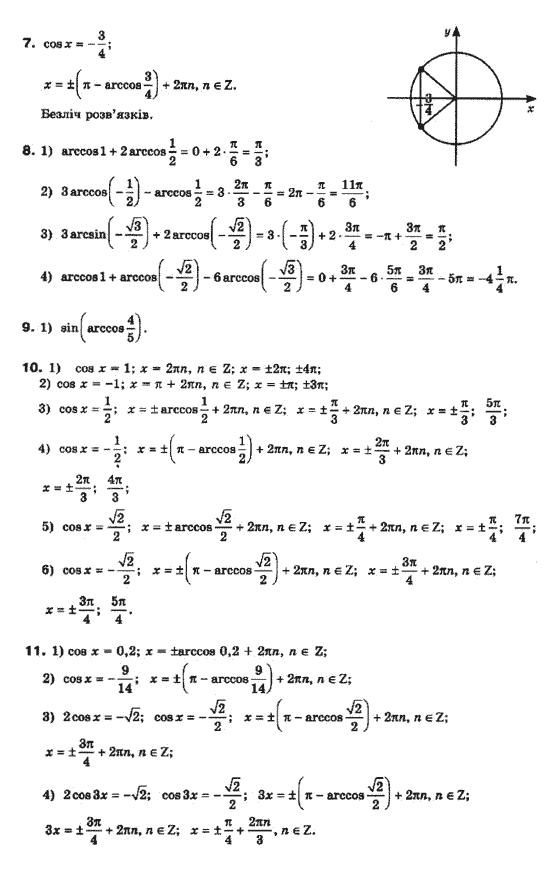 Колесник гдз класс математике бурда мальований 10 по