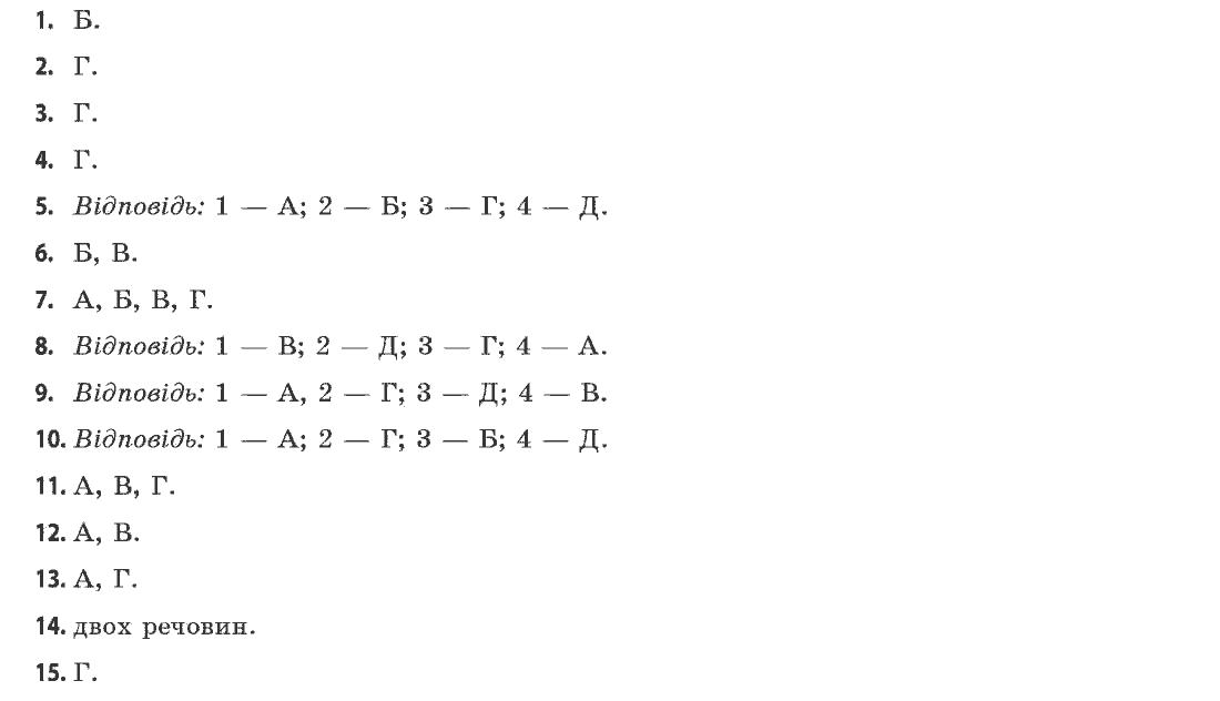 Ярошенко хімія гдз 11