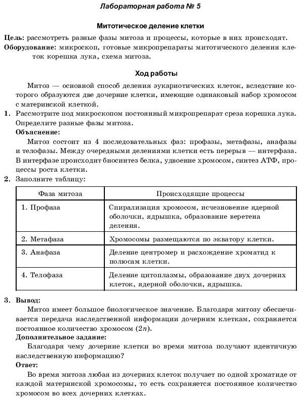 Решебник Для Лабораторных Работ По Биологии 10 Класс С.а.поперенко