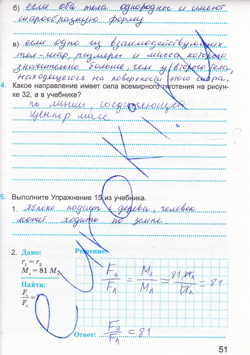 Решебник за 9 класс по физике рабочая тетрадь касьянов дмитриева