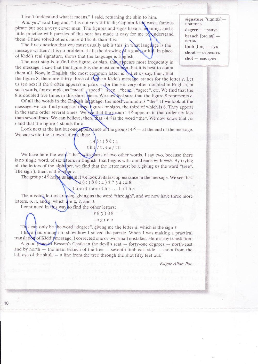в тетради текстов класс перевод гдз английскому по 7 миллениум