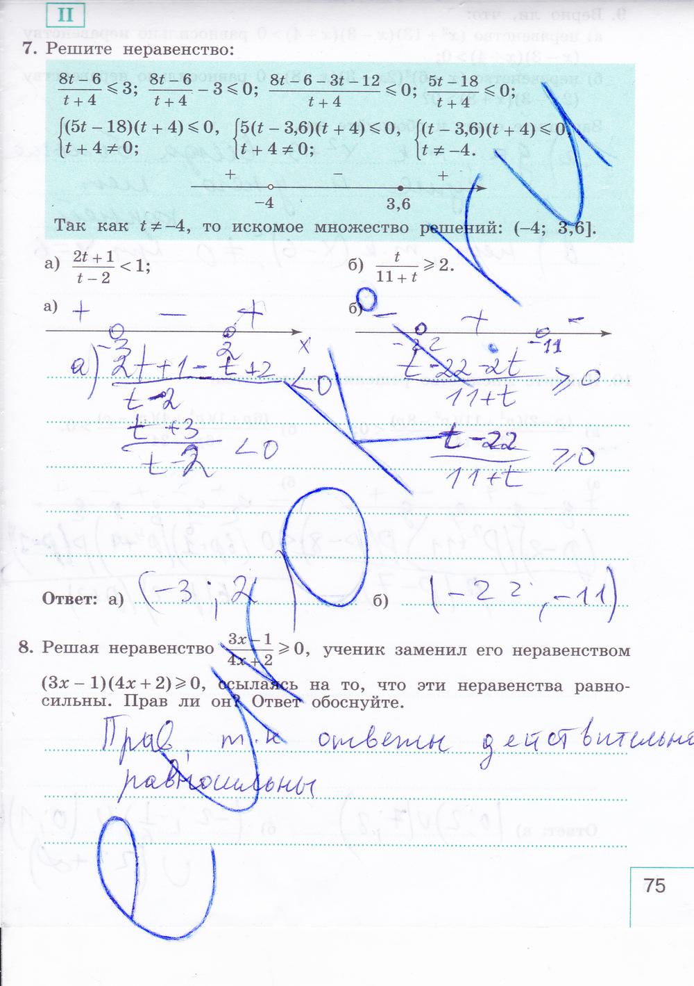 гдз по алгебре 9 класс рабочая тетрадь миндюк шлыкова 1