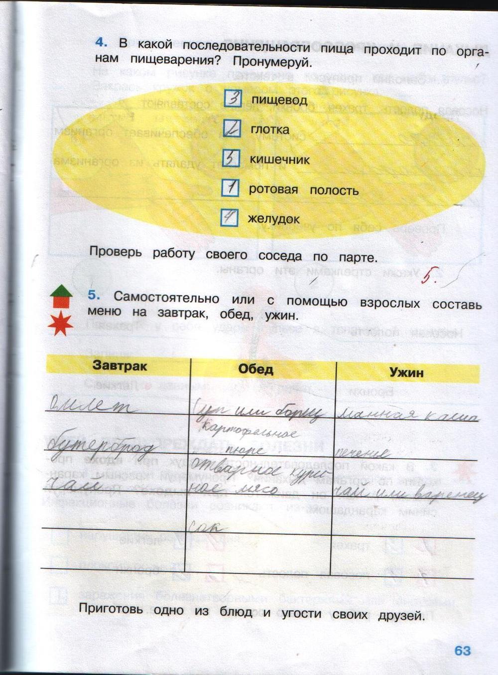 гдз домашнее задание по окружающему миру 3 класс рабочая тетрадь плешаков