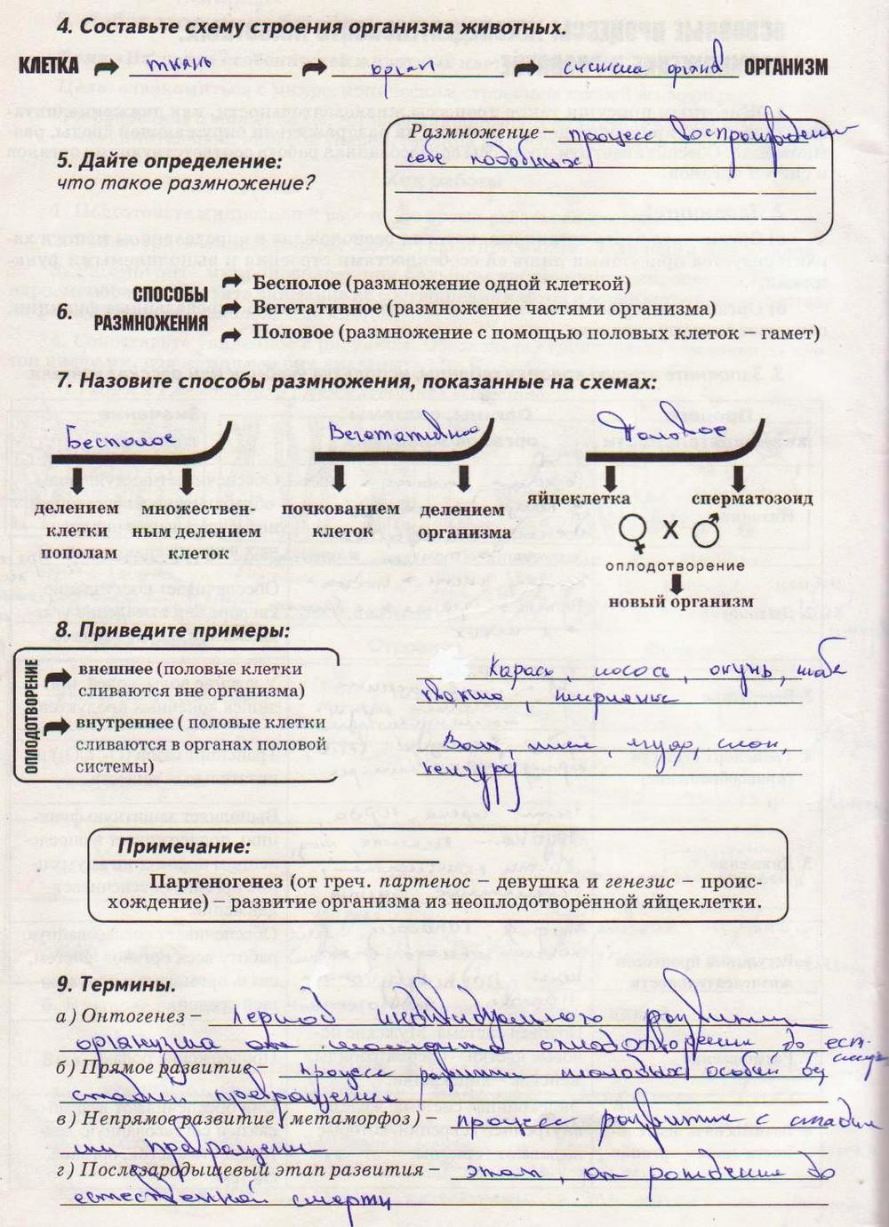 Гдз По Зошите З Биологии Для 7 Класса А.калинчук