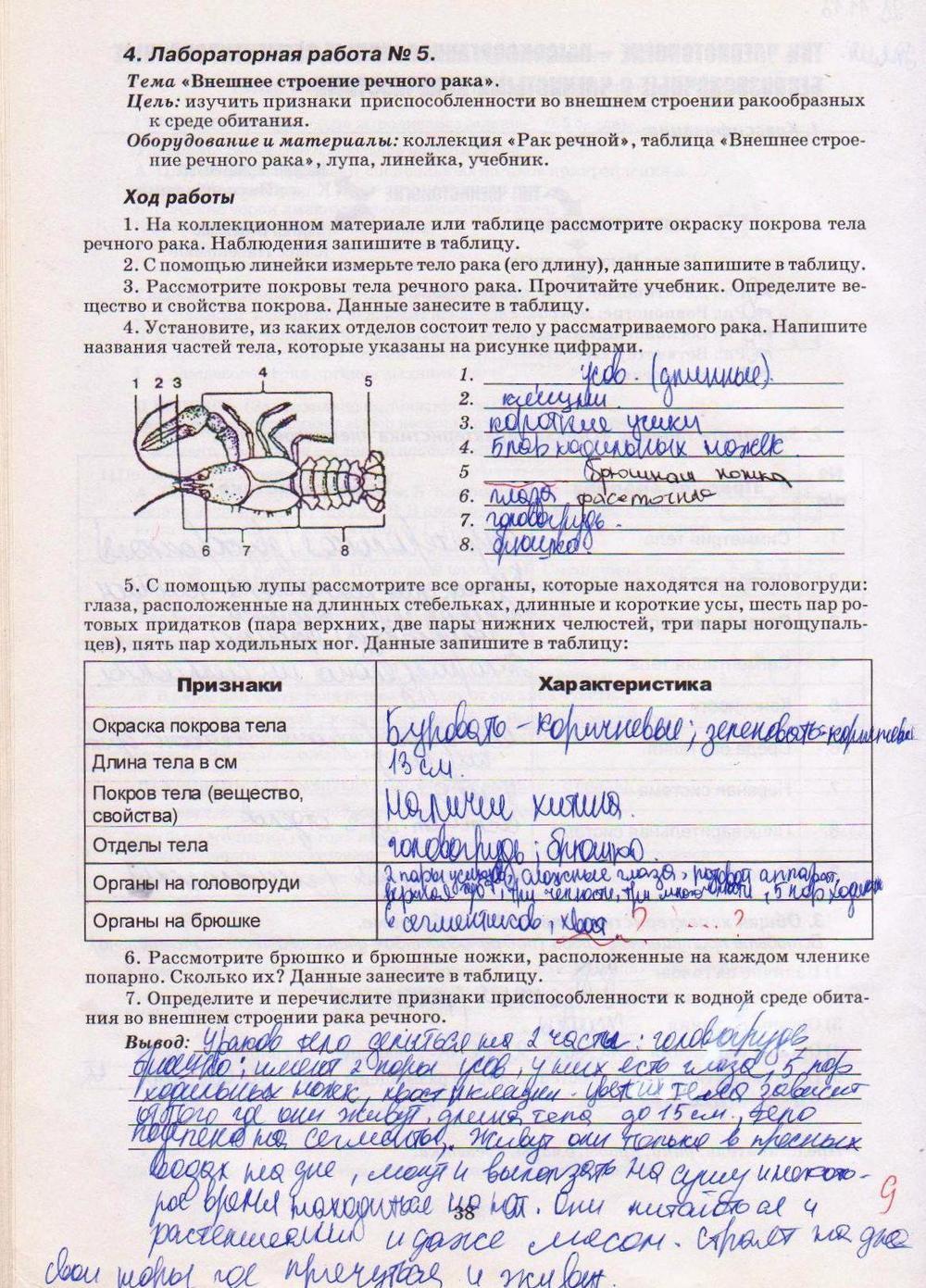 Гдз лабораторные работы по биологии 8 класс вахрушев
