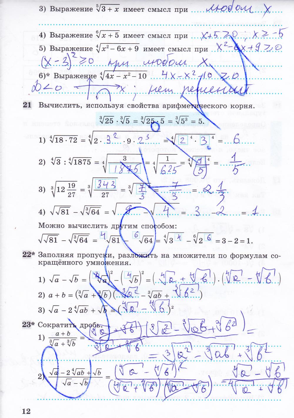 по колягин класс 9 федорова алгебре гдз