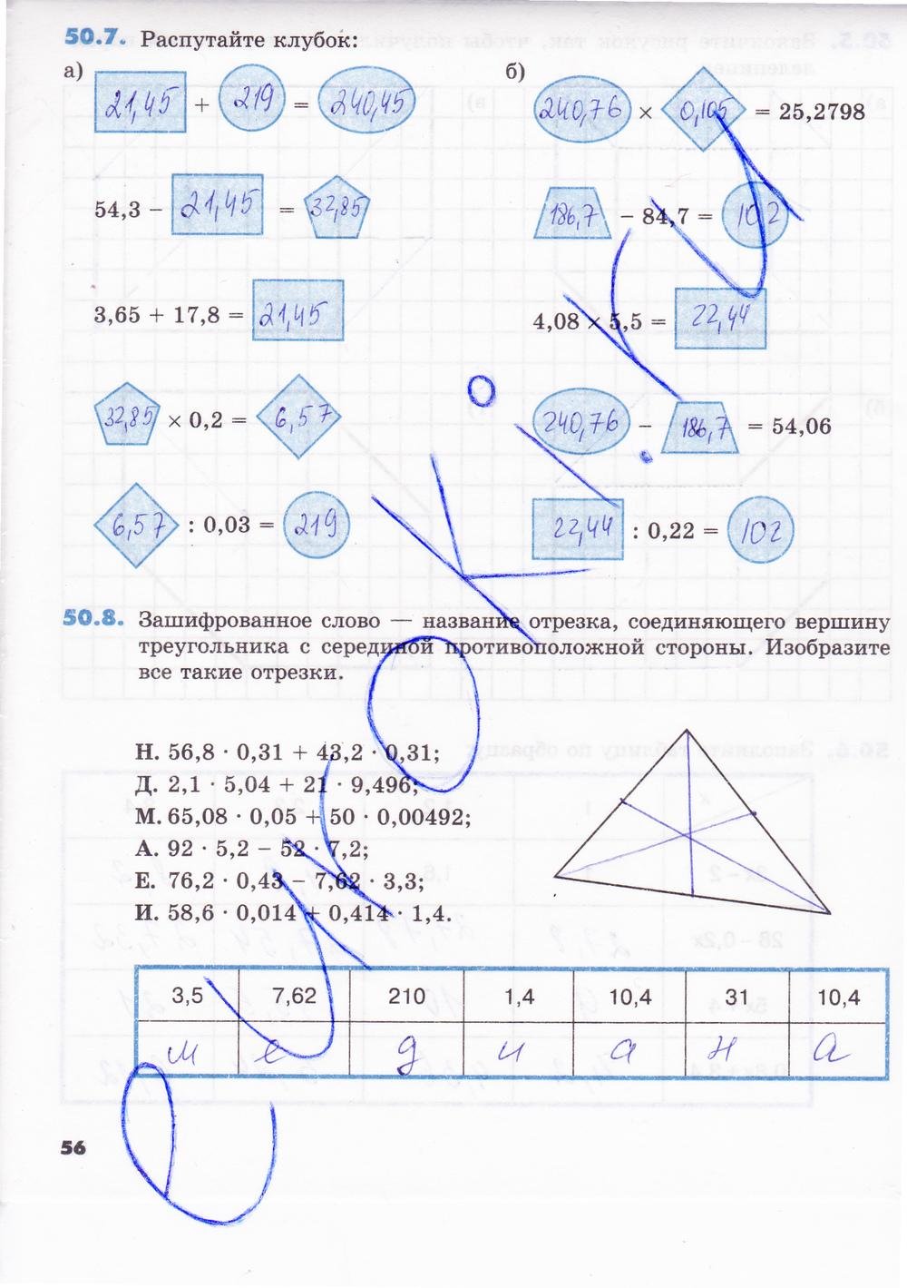 рабочая часть по 5 зубаревой класс математике гдз 2 тетрадь