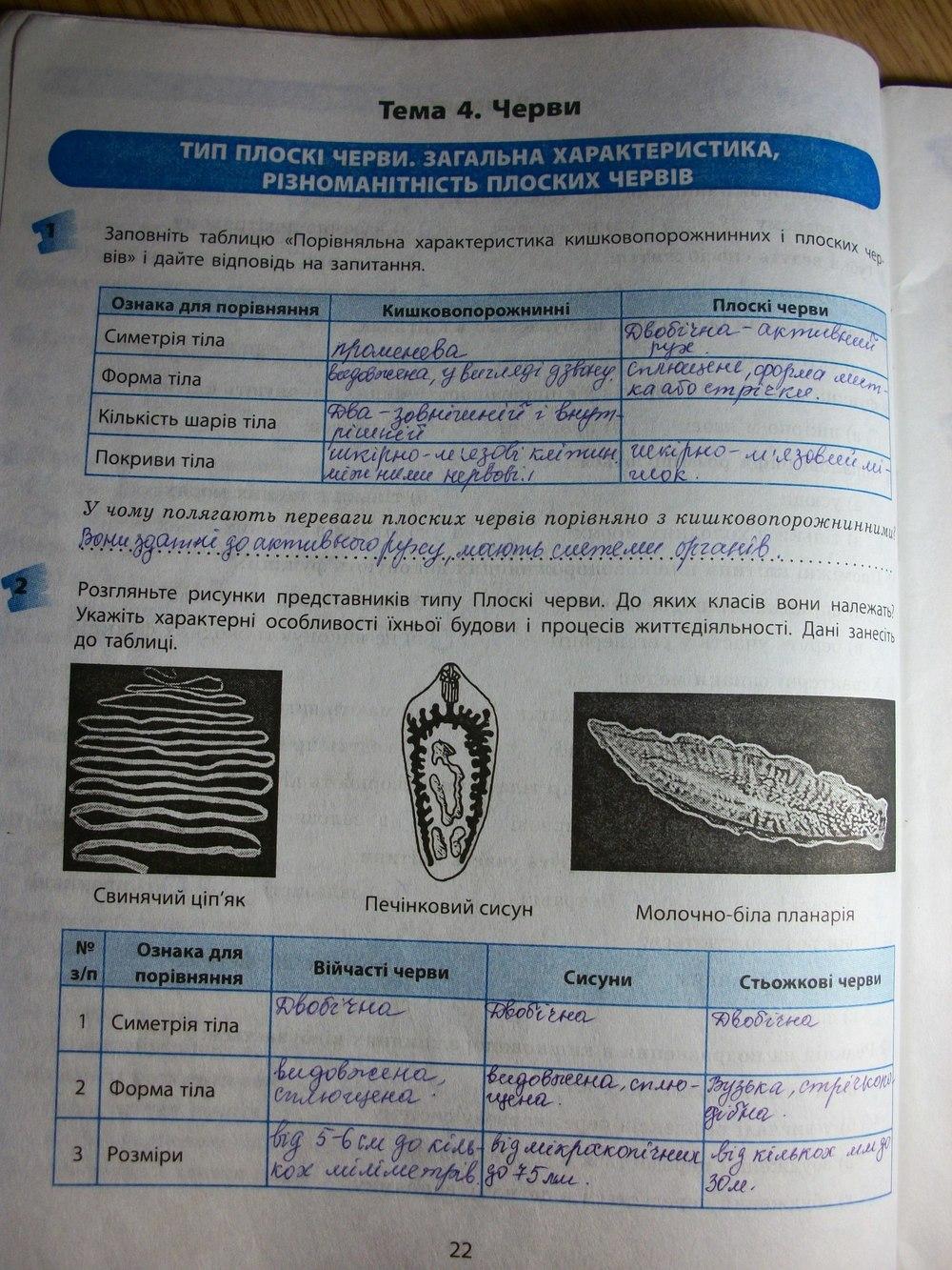 зошит 10 за с котик практичний биологии класс гдз
