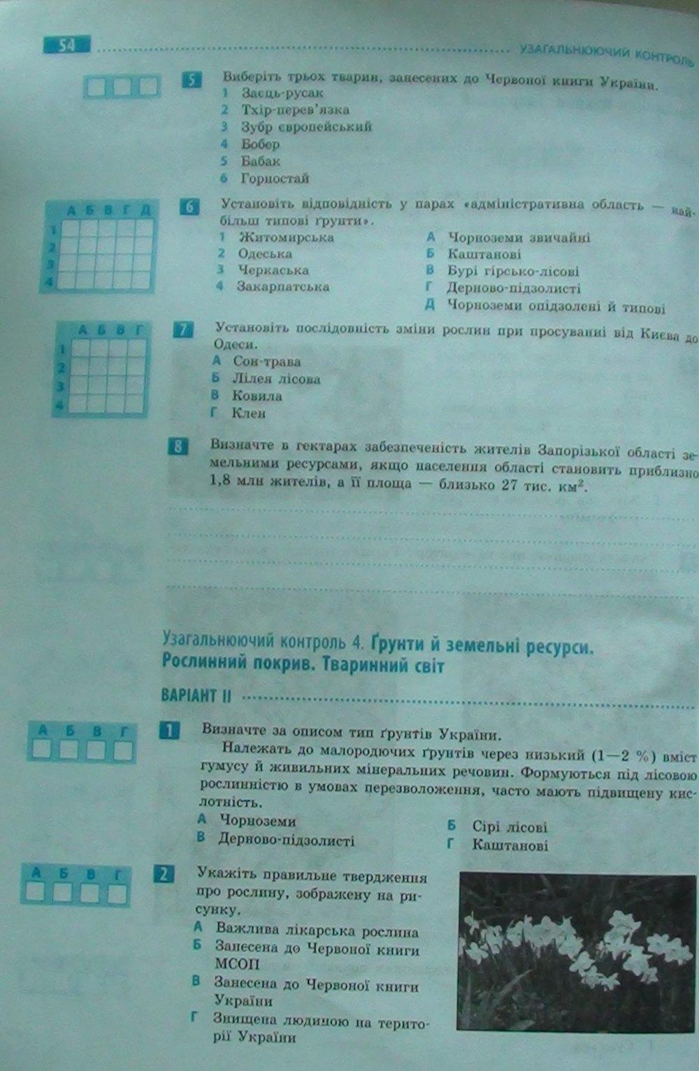 гдз для практичних робіт з географії 8 клас о.г стадник