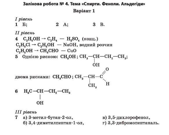 11 клас хімія дубковецька гдз