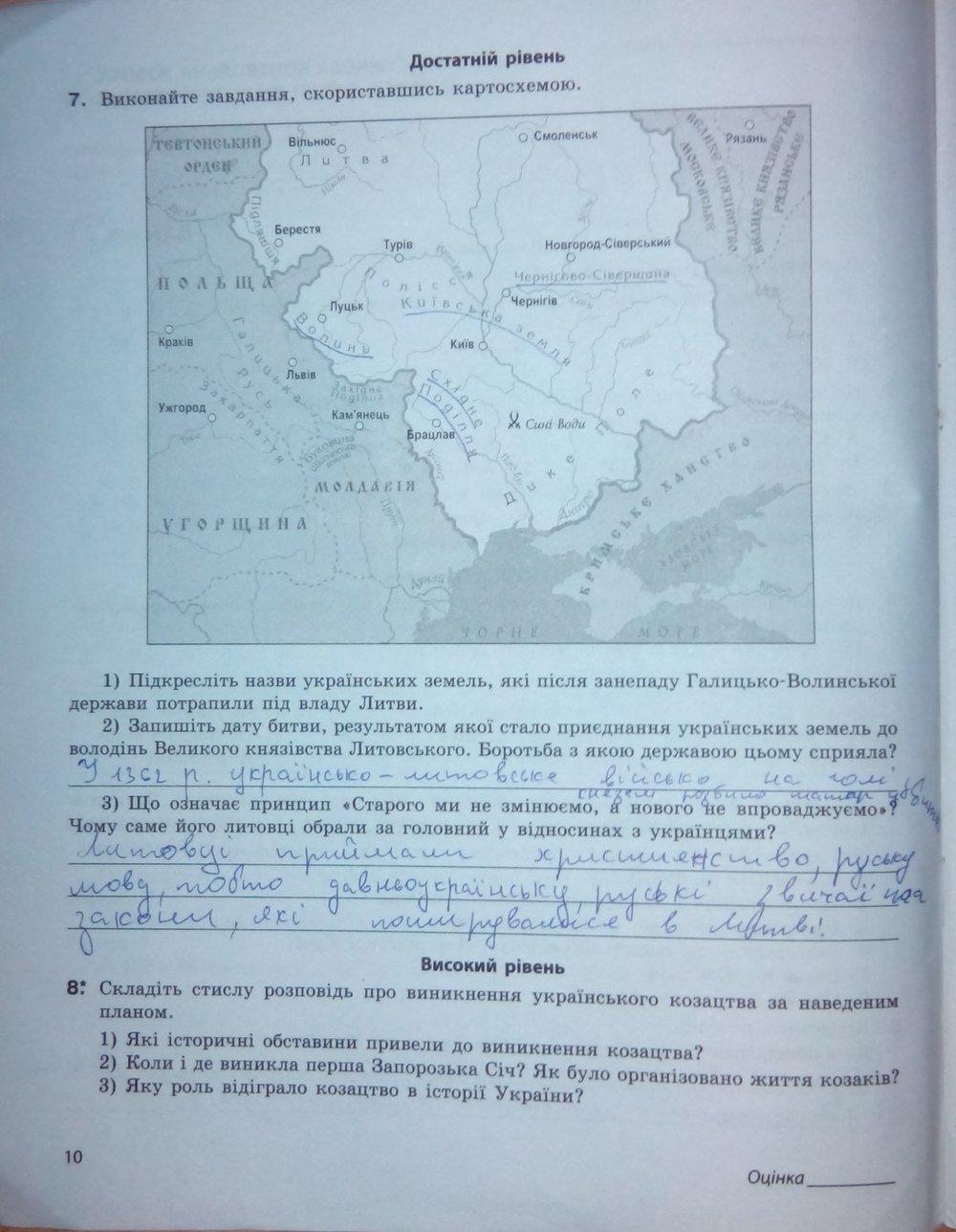 Святокум гдз украины класс 8 история