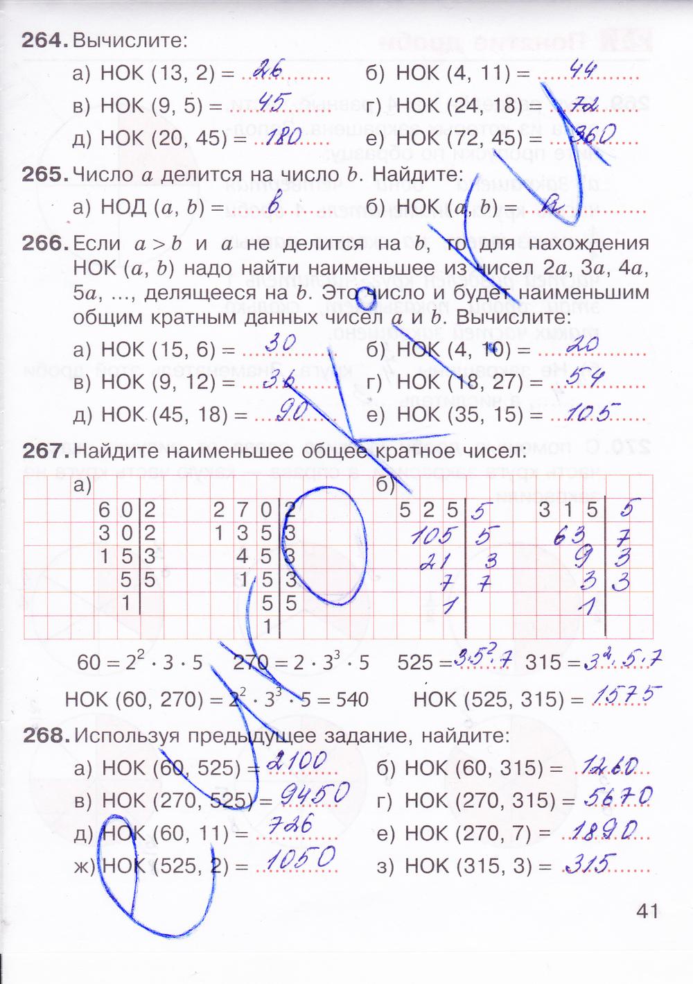 гдз по математике 6 класс никольский 1 часть рабочая тетрадь