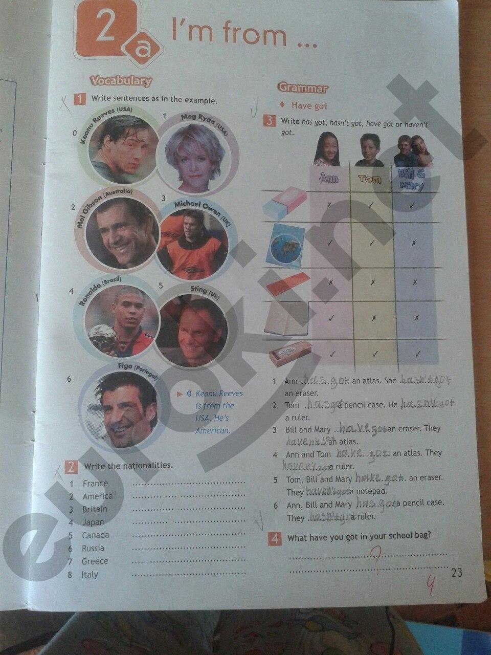 Тетрадь по класс готовые ваулина задания языку домашние 5 английскому