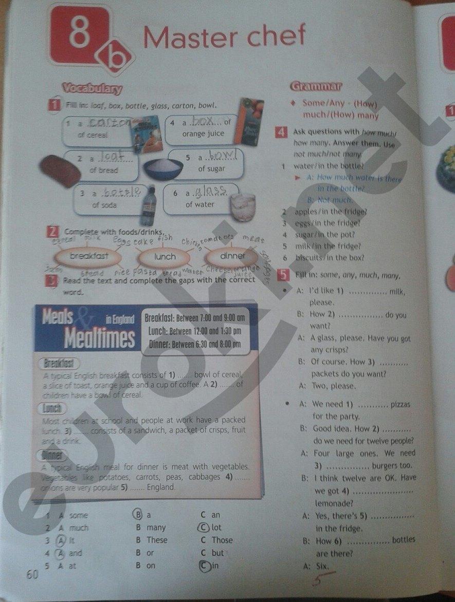 6 рабочая языку ваулина по английскому тетрадь гдз 5 класс