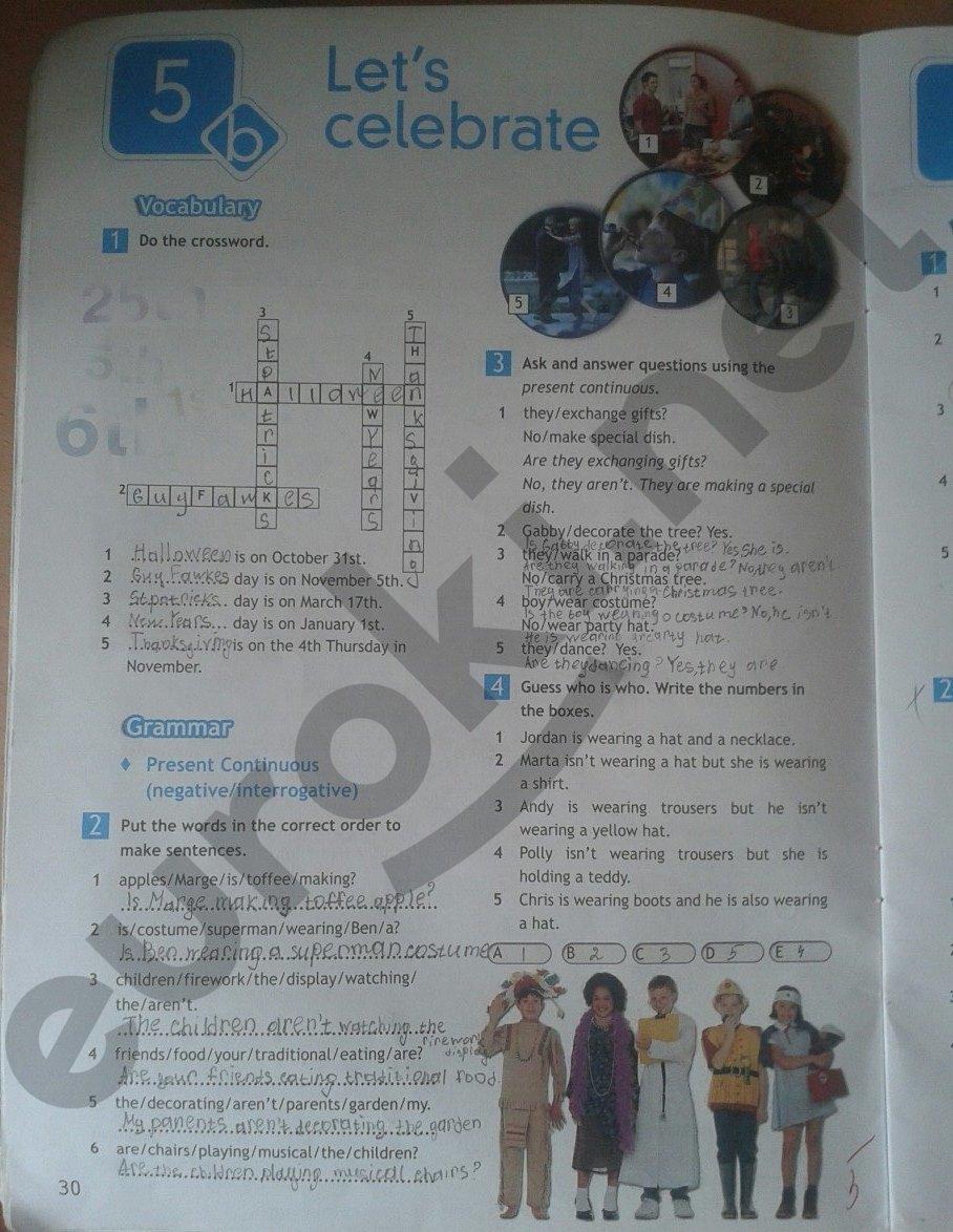 Wb по английскому языку 5 класс решебник