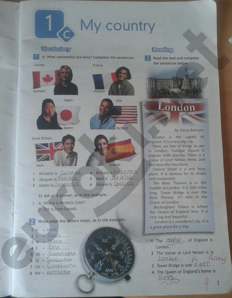Страница рабочей тетради 21 - решебник по английскому языку 6 класс
