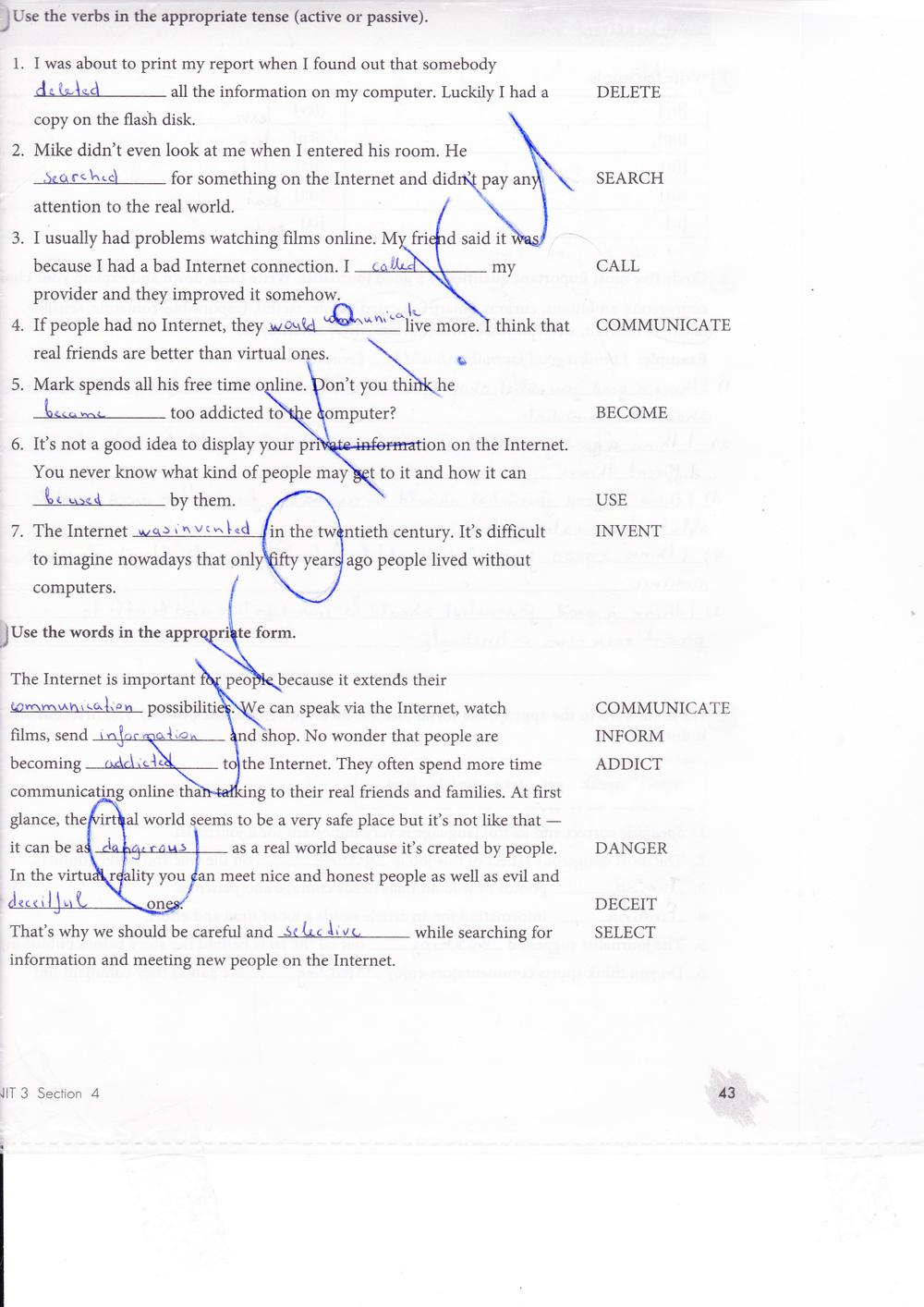 Биболетова рабочая тетрадь бабушис гдз класс 8 английскому по