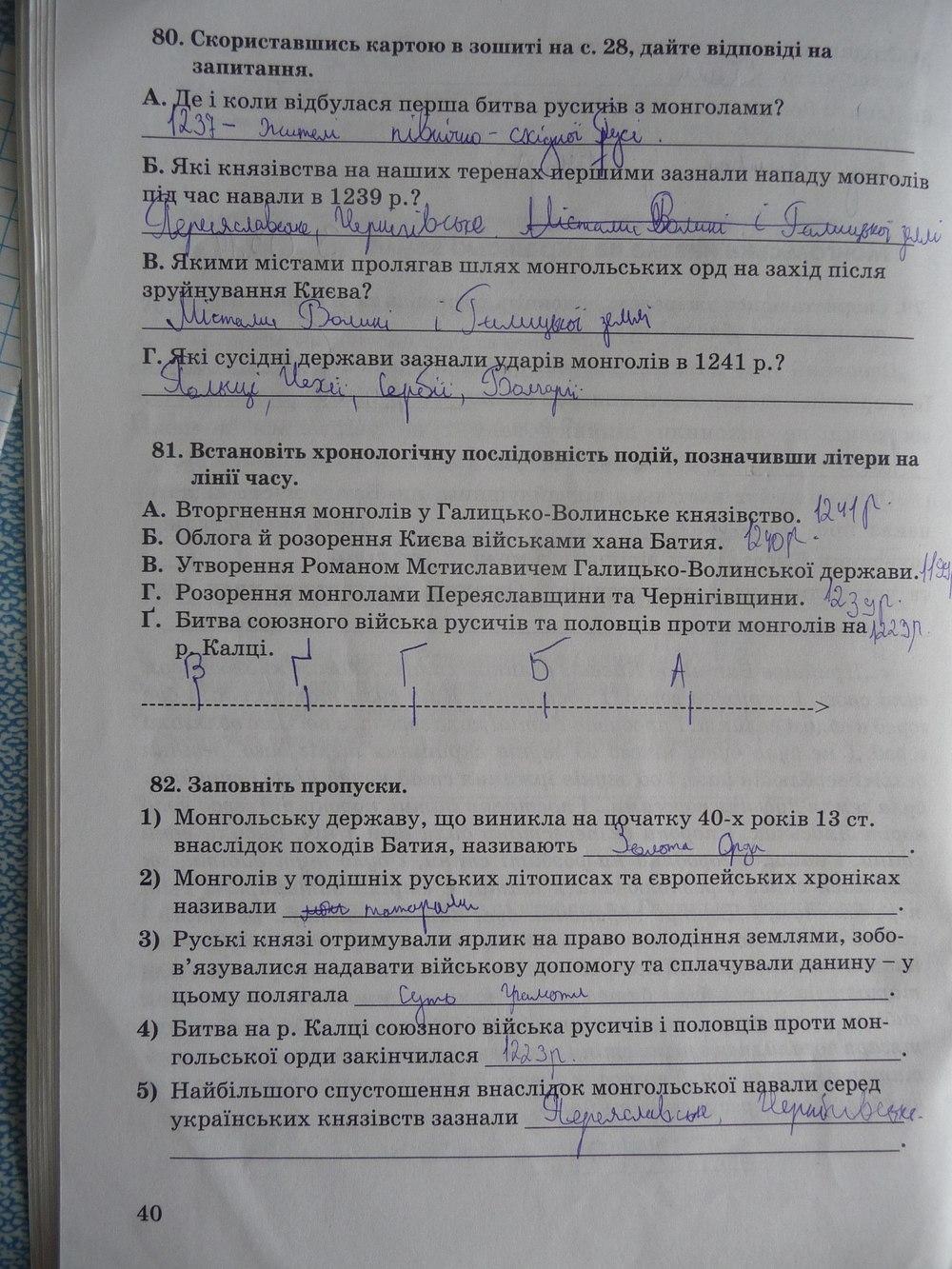 зошит відповіді історія гдз 5 власов україни клас