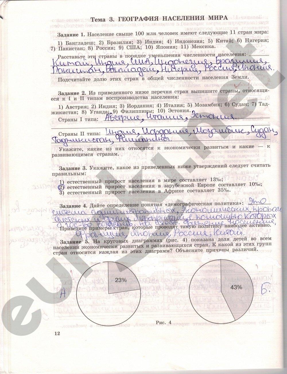 Решебник по географии 10 класс рабочая тетрадь максаковский.rar