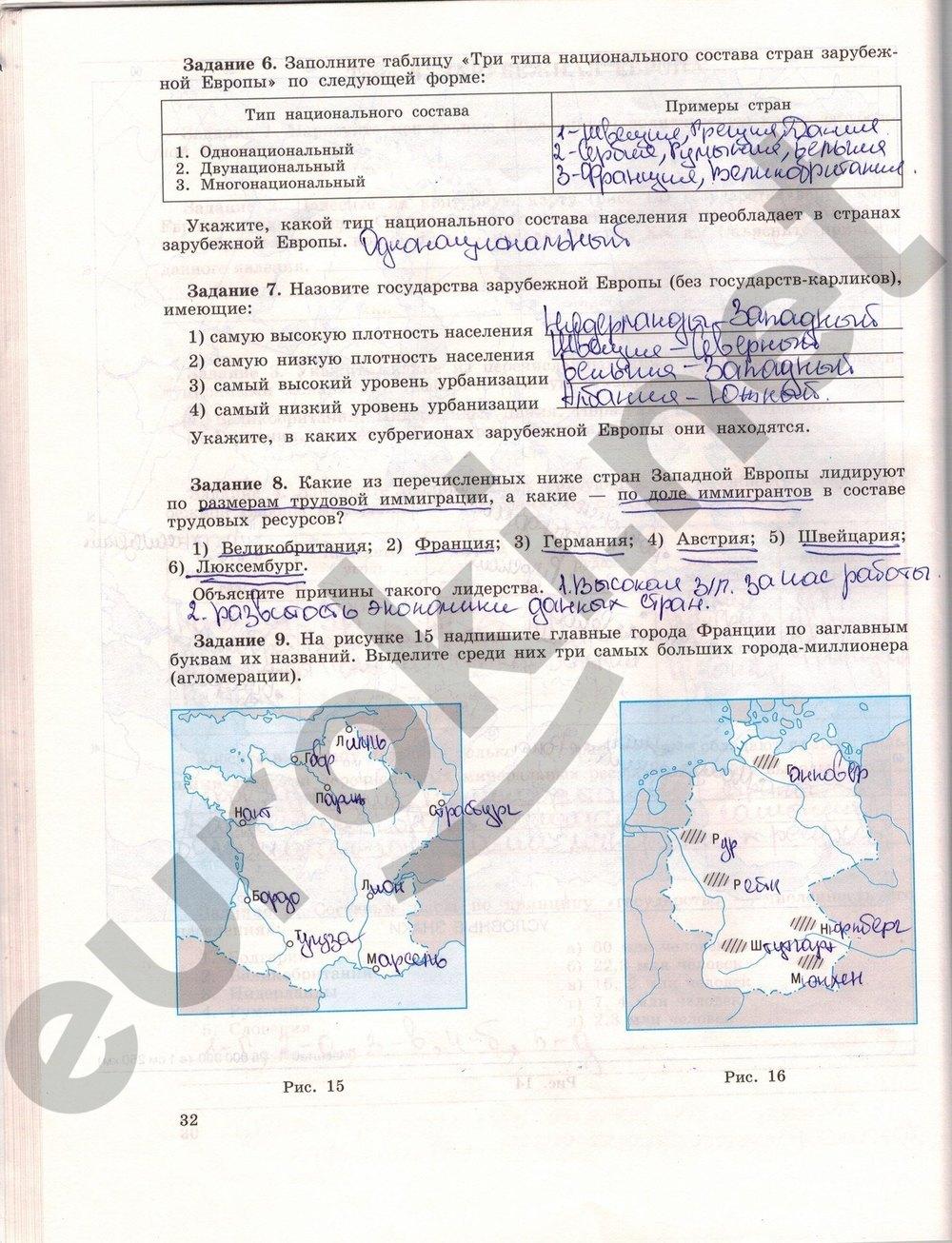 читать класс онлайн гдз 10 география максаковский