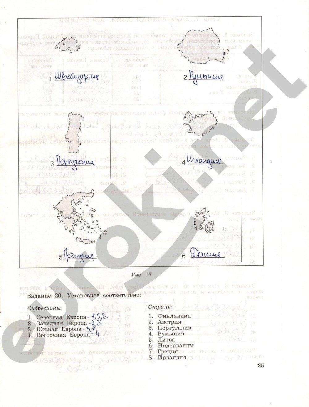 Гдз на рабочую тетрадь по географии 11 класс максаковский