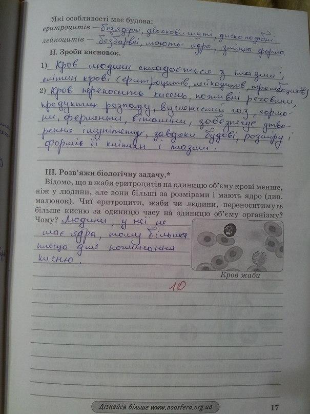 Биологии класс зошит гдз 9
