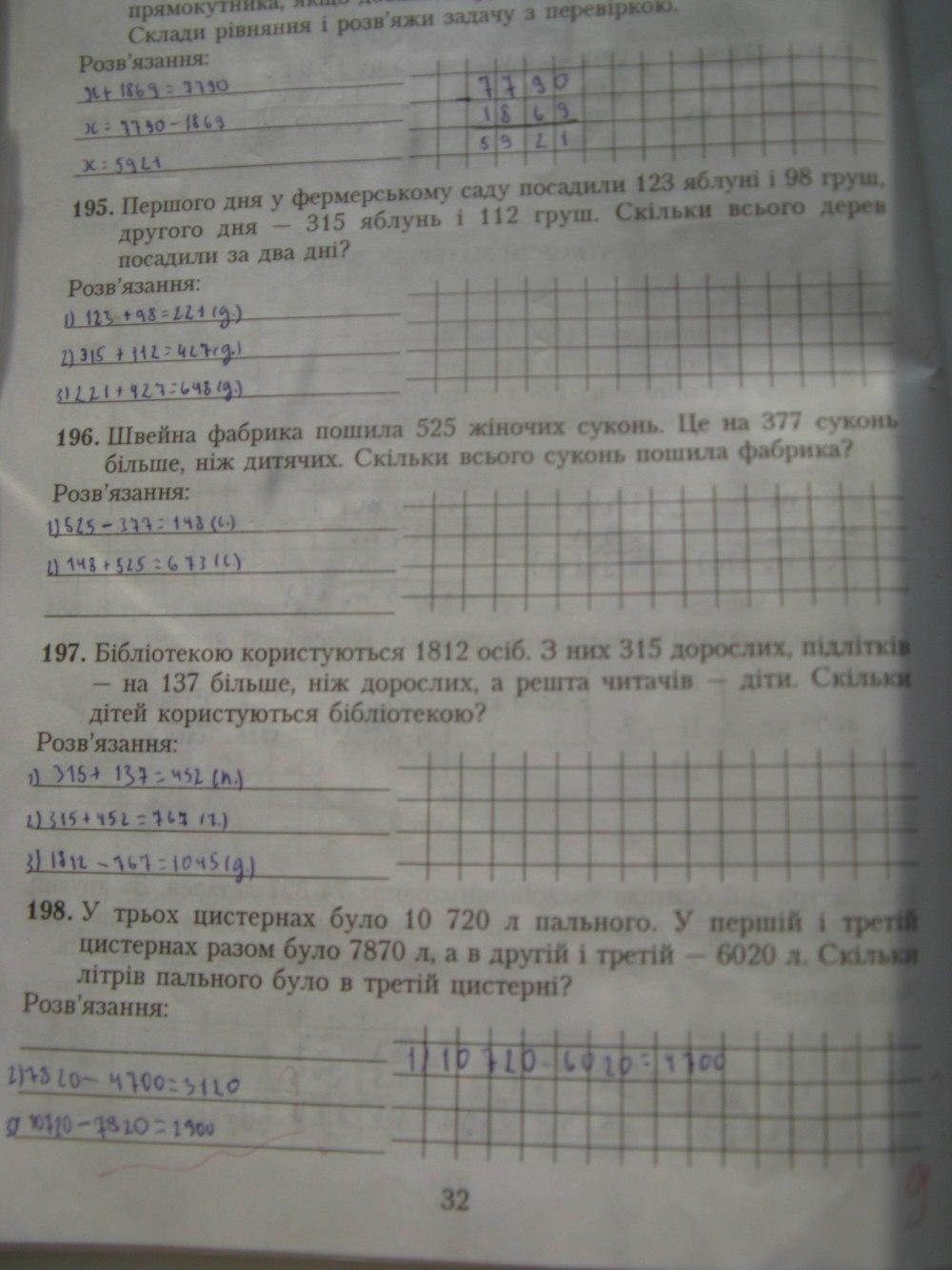 гдз математ 4 клас богданович