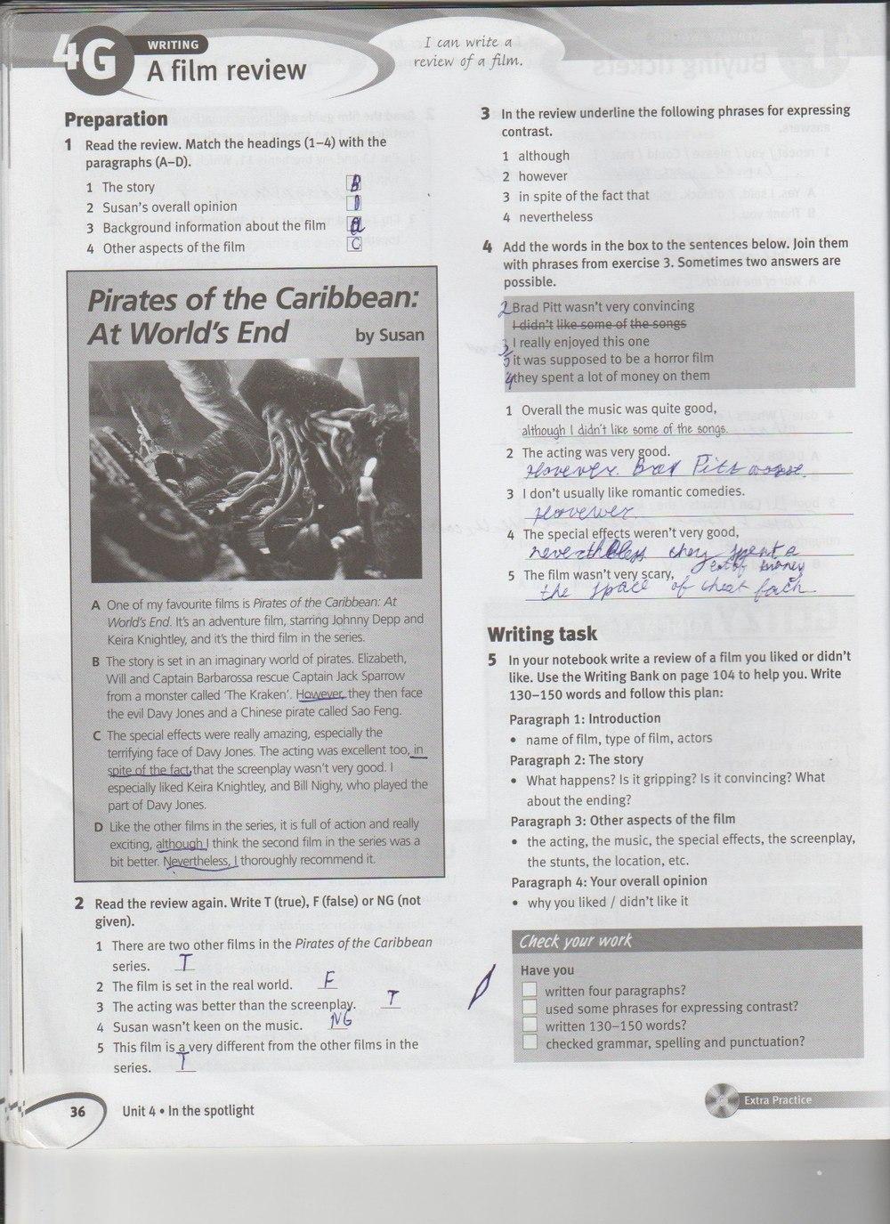 гдз английский язык 8 класс solutions pre-intermediate