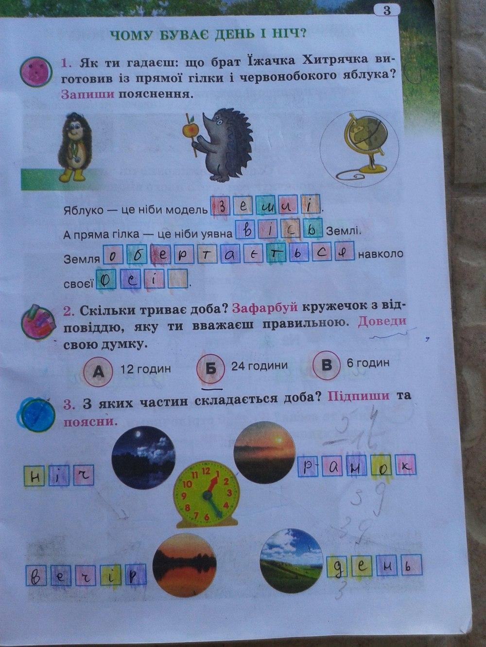 Відповіді до зошита друга природи 3 клас грущинська гдз
