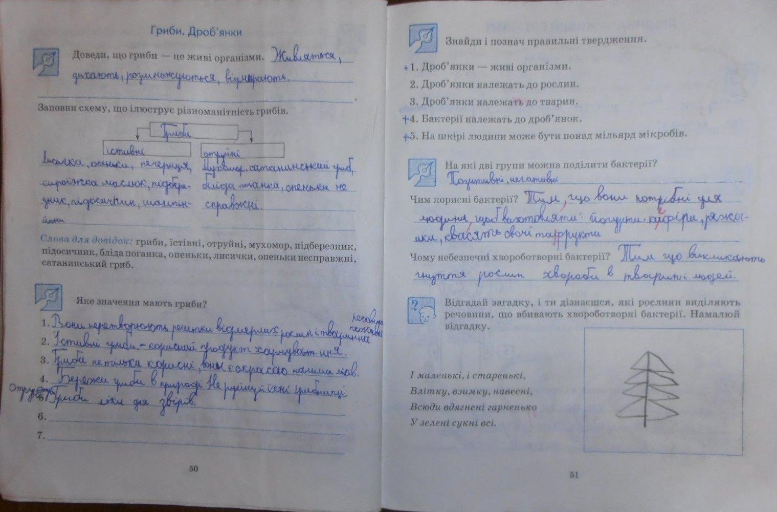 Зошит 3 відповіді робочий гдз діптан по природознавству клас