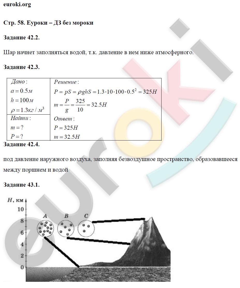 Класс рабочей тетради в хананова физики хананов по 7 гдз