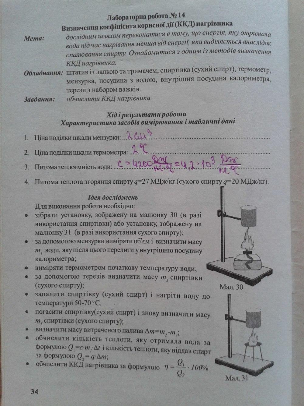Робіт з лабораторних фізики клас левшенюк 7 гдз