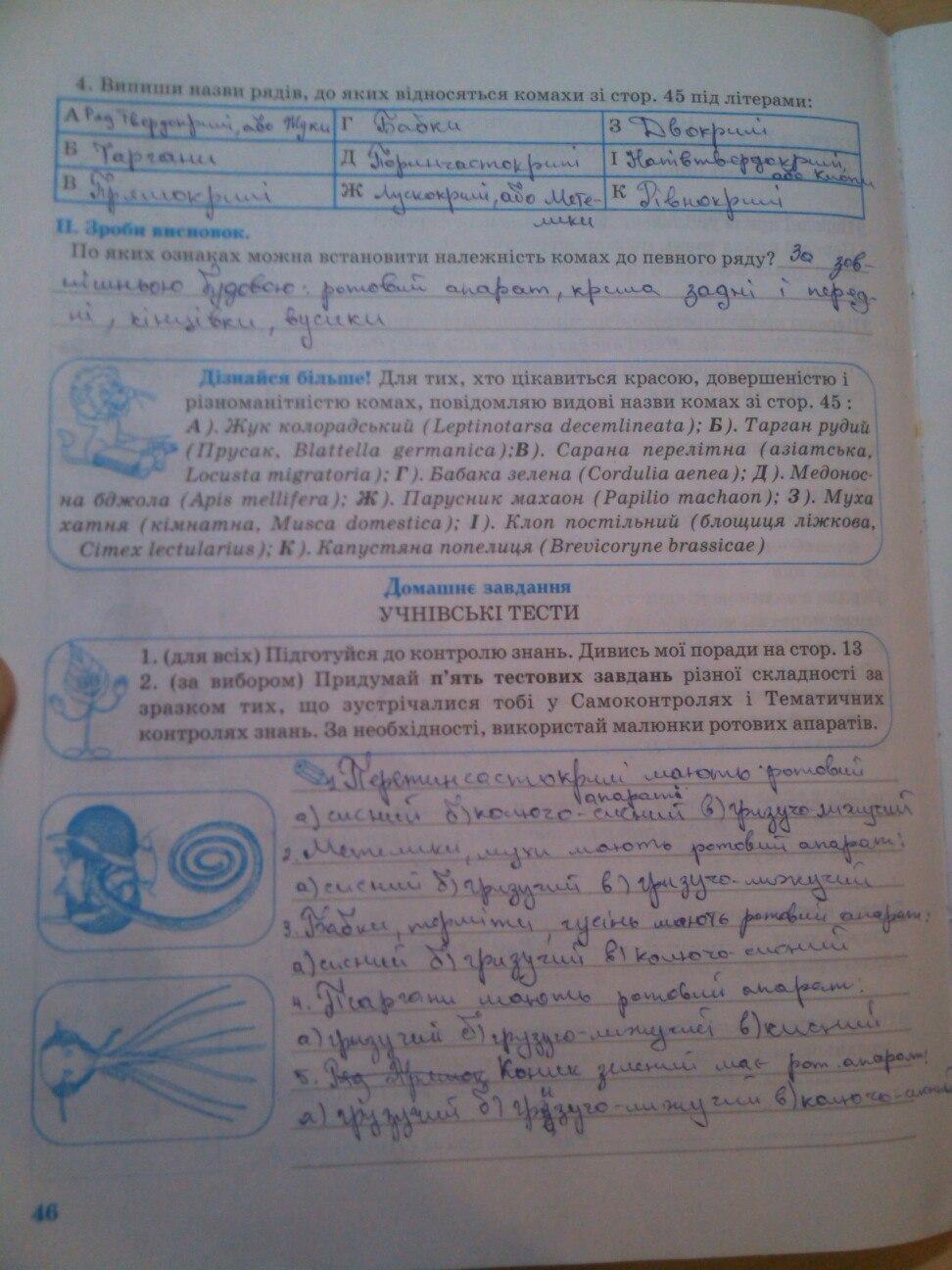 гдз 6 клас біологія зошит князева