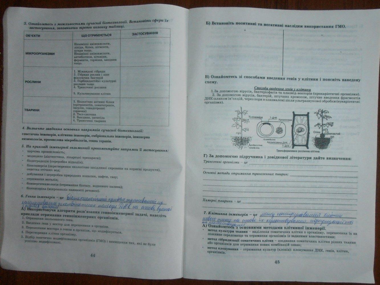 Гдз По Біології 11 Клас