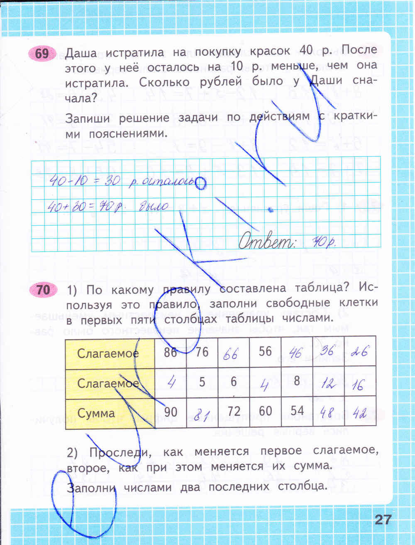 Гдз по математике 2-й класс а