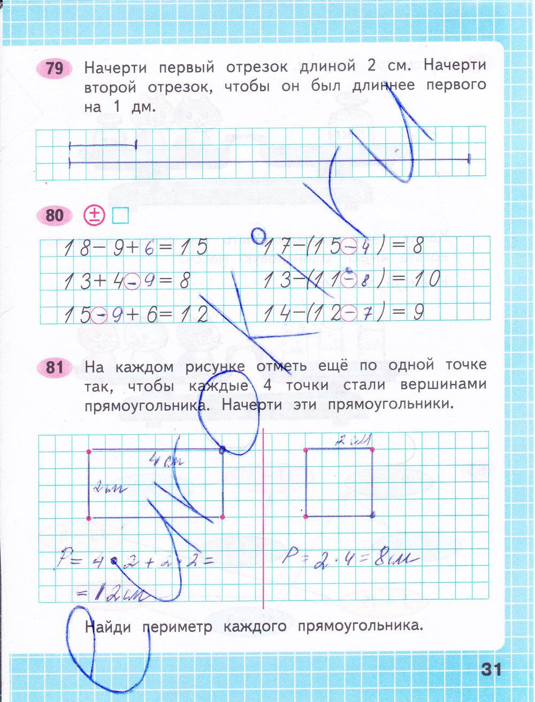Математике 2 за класс рабочая решебник тетрадь по