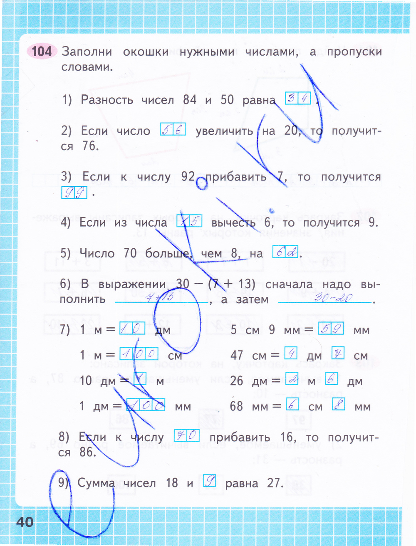 класс тетрадь готовые домашнее математика задание рабочая моро 2