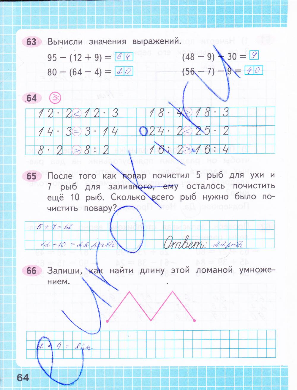 Готовые домашнее задание математика рабочая тетрадь 2 класс моро