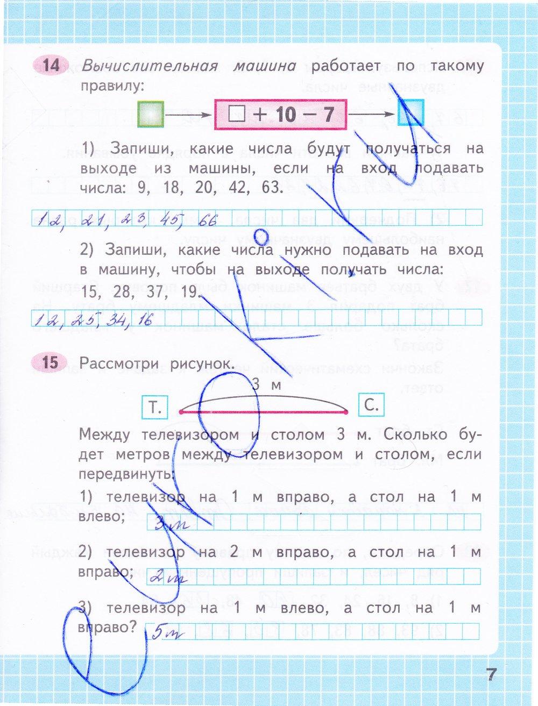 Часть рабочей 2 2 класс в математике тетради решебник по