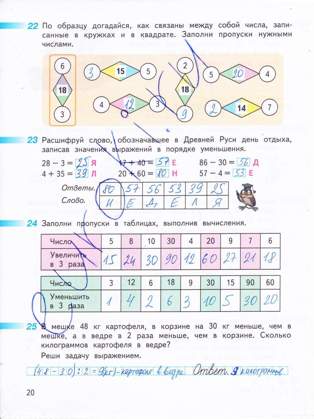 математика 2 класс перспектива решебник дорофеев