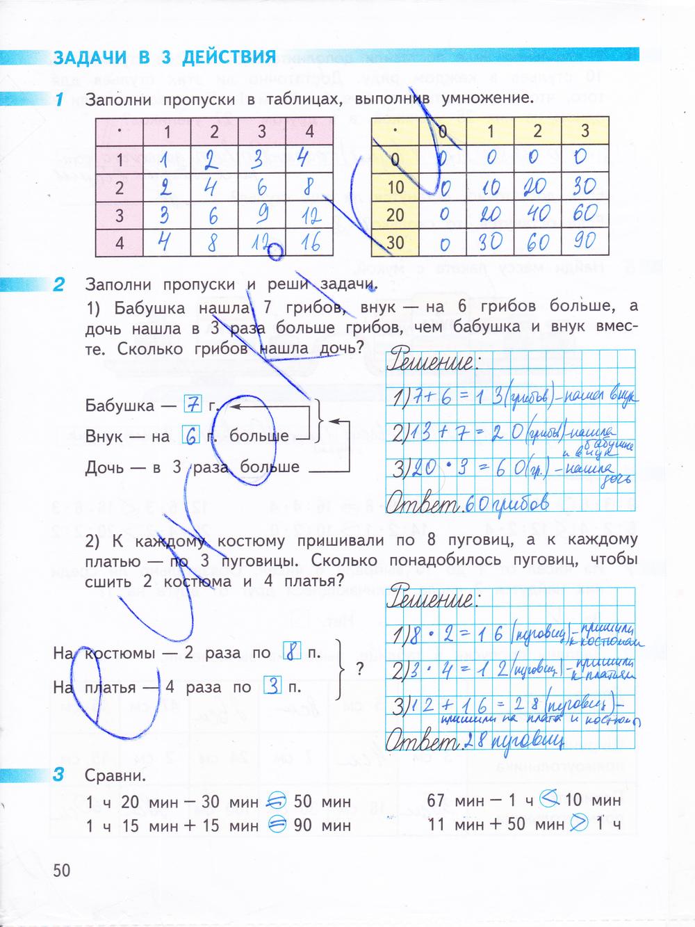 Гдз по математике 3 класса рабочая тетрадь г в дорофеев