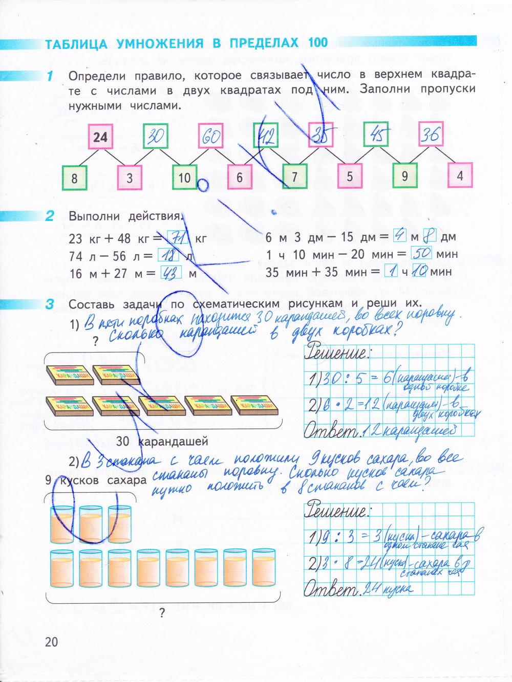 Решебник По Математике Рабочая Тетрадь 2 Класс Дорофеева