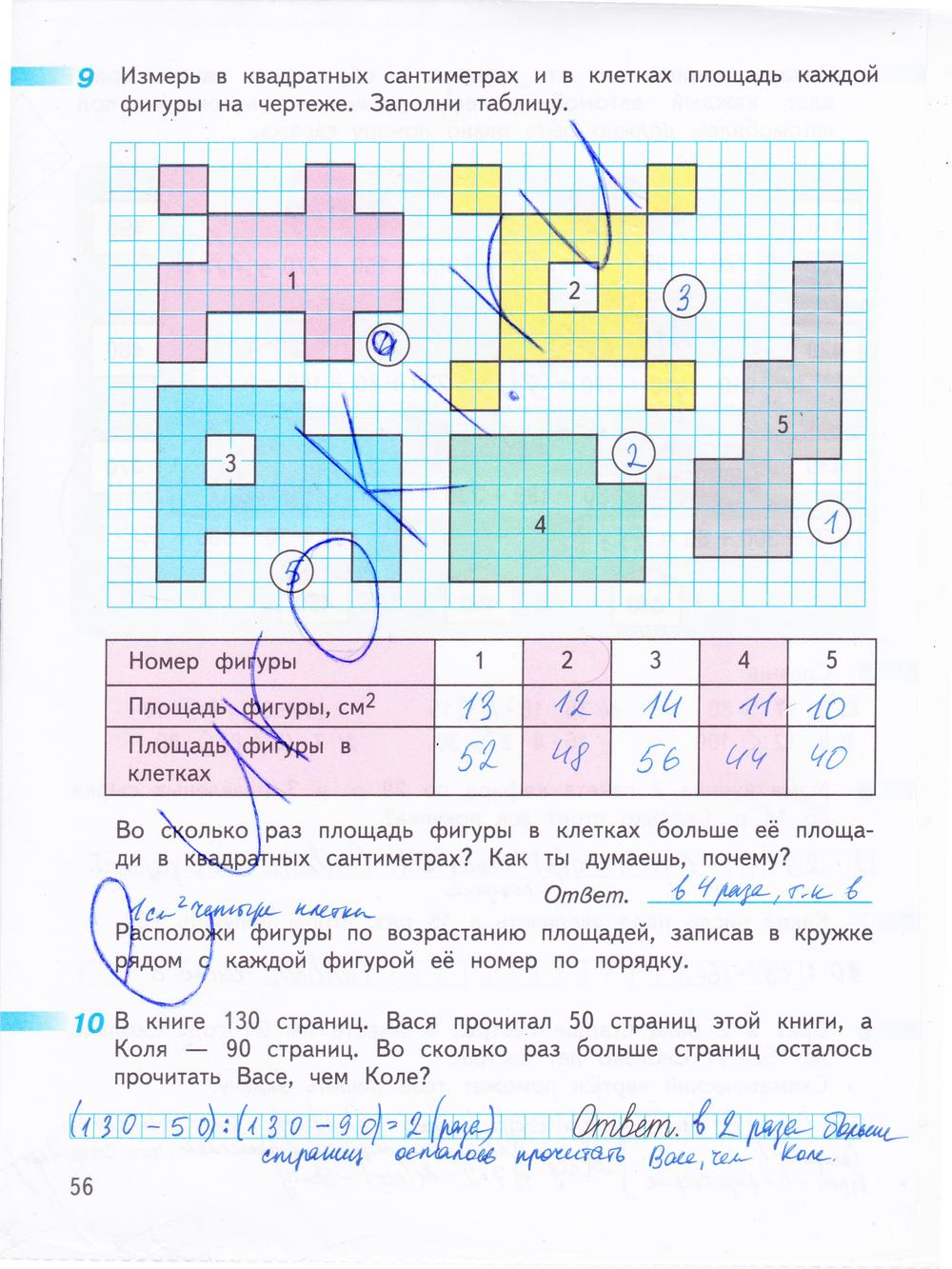 гдз по математике 2 класс рабочая тетрадь 2 дорофеев 2018