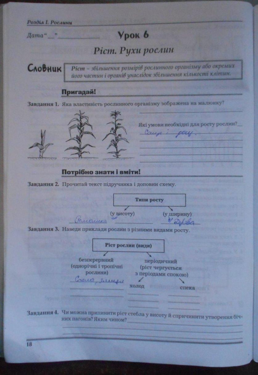 Робочий зошит біології гдз 7 клас на з