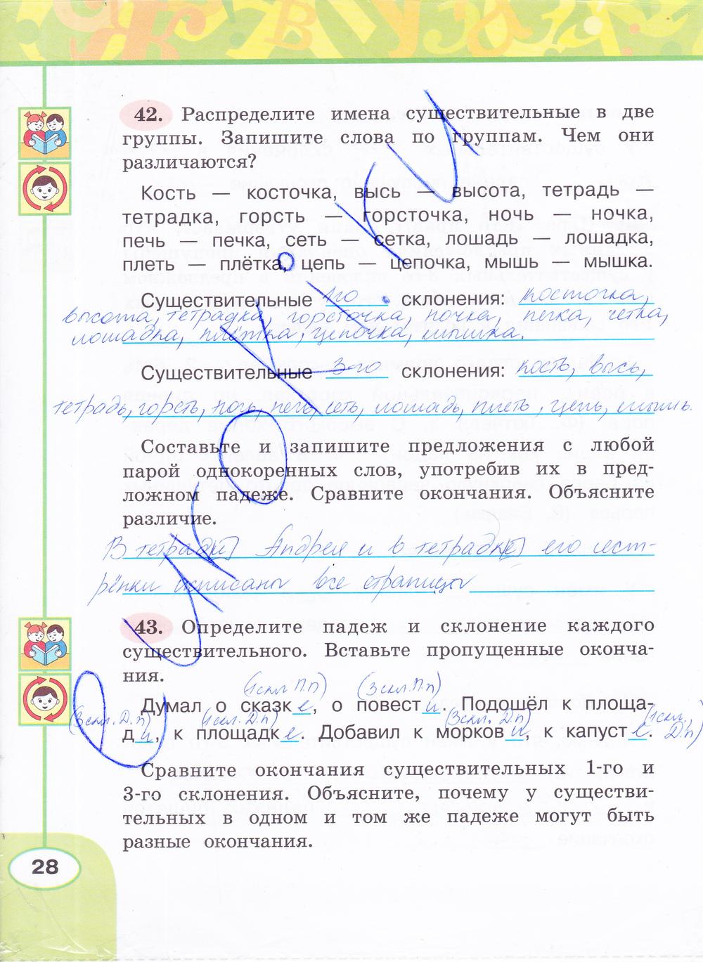 Гдз Русский Язык Климанова Часть 1 Рабочая Тетрадь