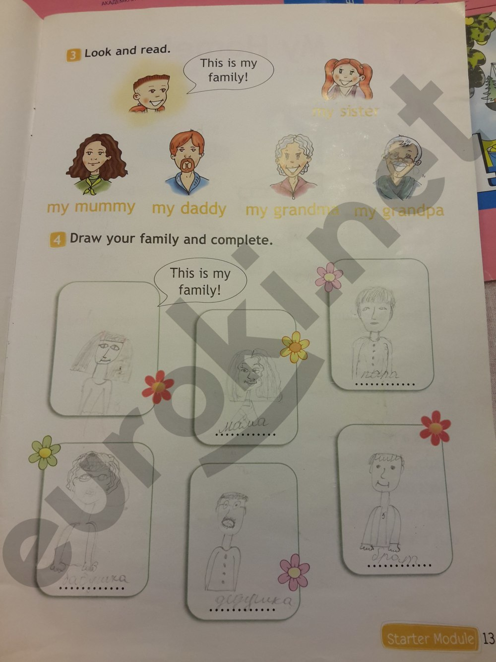 Давай сделаем открытку по английскому 2 класс стр 55, картинки надписями женские
