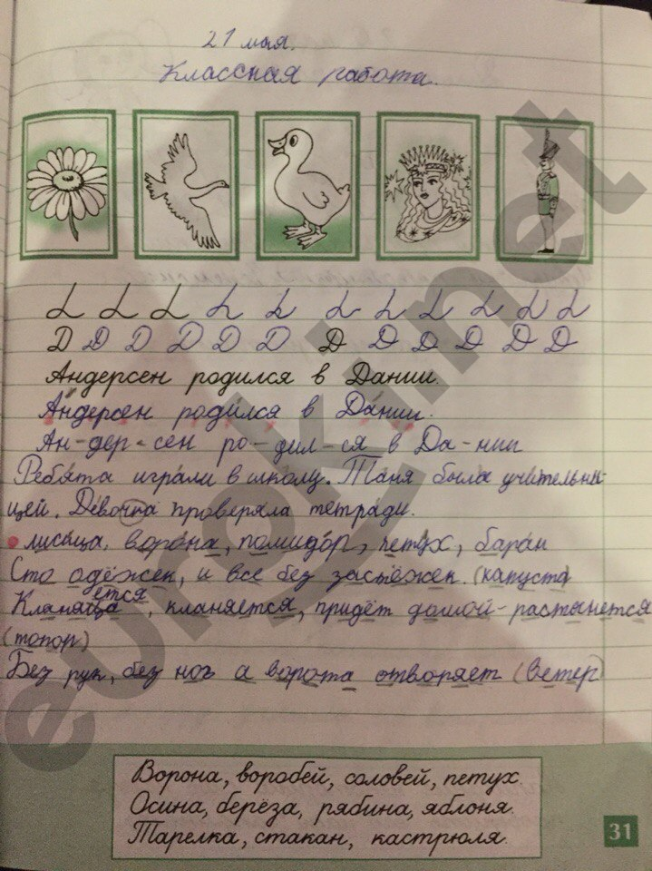 рабочая тетрадь по русскому языку 1 класс бунеева гдз